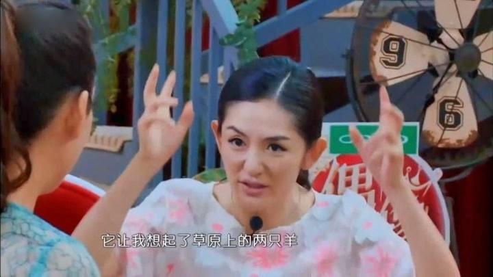 汪涵真是個好男人,怕謝娜走光,把手中的扇子給她擋住,細心