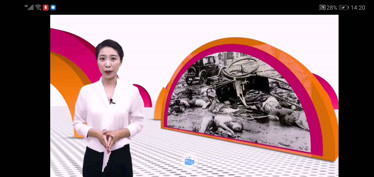 """桑树台镇中心小学校时事新闻课""""勿忘国耻 警钟"""